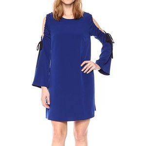 Rachel Roy Cold Shoulder Tie Sleeve Shift Dress